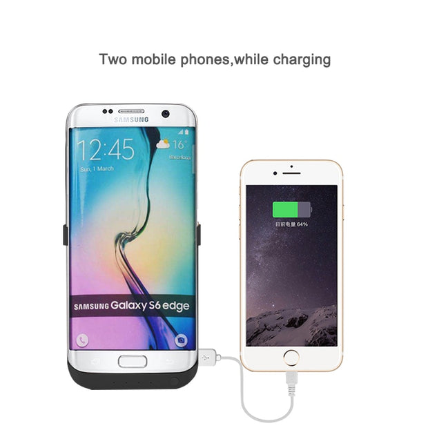 Rechargeable Battery Charger Cases For Samsung Galaxy S7 Edge Power Bank Case 6800mAh SM-G9350 Holder Stands Powerbank Cover
