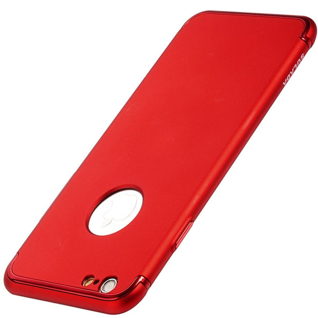 Red Luxury Cloth Ultra Slim Thin TPU Hard PC Gentleman Phone Case Cover For Apple IPhone 7 7 Plus Shockproof Fashion