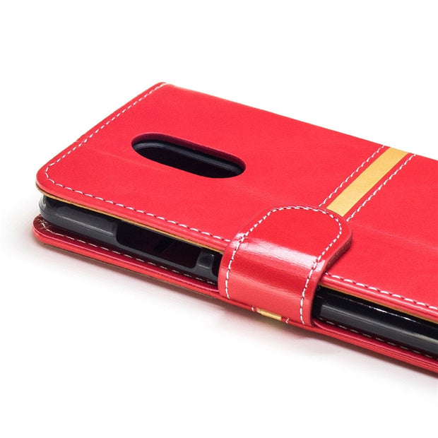 "Red PU Leather Case For Xiaomi Redmi Note 3 5.5""/ Xiaomi Redmi Note 3 Pro Card Holder Cover For Xiaomi Redmi Note 3Pro Kickstand"