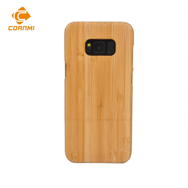 Removable Bamboo Case For Samsung Galaxy S8 Plus Back Cover Combinatorial Housing Dirt-resistant Shell CORNMI Pouch