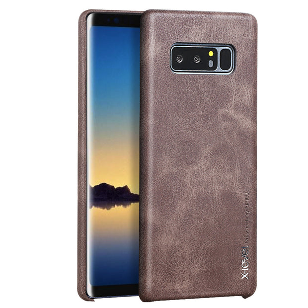 Retro Case For Samsung Note 8 X-Level Ultra Thin Slim Business Leather Phone Back Cover Case For Samsung Galaxy Note 8