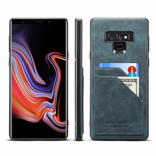 Retro PU Leather Card Slots Wallet Case For Samsung Galaxy Note9 Luxury Vintage Leather Skin Cover For Samsung Note 9 Coques
