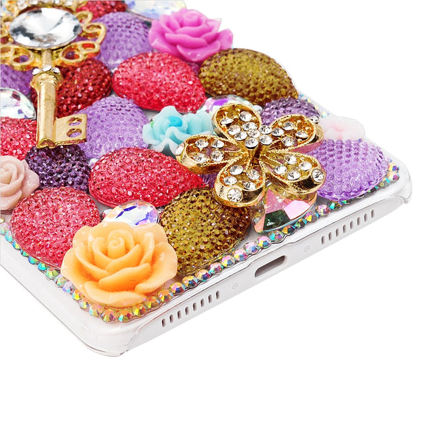 Rhinestone Case For Samsung Galaxy A3 A5 J3 S6 Edge S8 Plus 3D Handmade Glitter Diamond Bling Crystal Cover For Galaxy S8+ T25