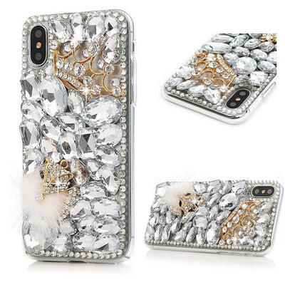 Rhinestone Cute Case For IPhone 6/6S/7 8 Plus/Touch 5/6+Handmade 3D Diamond Case For Iphone X+Bling Phone Cover For IPhone 5/5S