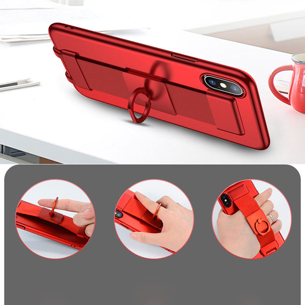 Romatlink Detachable Wrist Strap Sliding Support Scrub For IPhone7 6 6S 8 Phone Cover For IPhone7 Plus 6S 6 8 Plus Case Protect