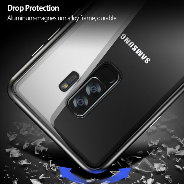 S9 Case Magnetic Adsorption Cases For Samsung Galaxy S8 S9 Plus Note 8 Tempered Glass Cover Magnet Cases For Samsung S 8 9 Plus