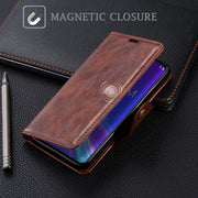 SLEO For Asus Zenfone Max Pro M2 ZB633KL Case PU Leather Flip Cover Case For Asus Zenfone Max M2 ZB633KL Wallet Phone Cover