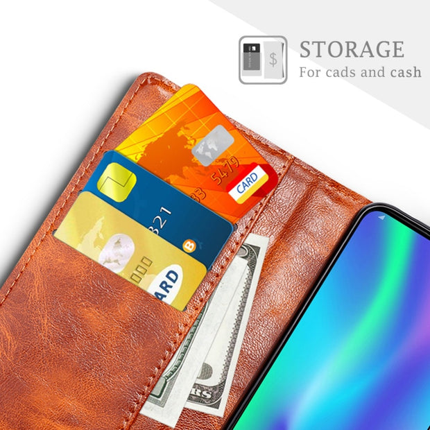 SLEO For Huawei Honor 8A Case Luxury PU Leather Flip Cover For Huawei Honor 8A Wallet Stand Phone Cover Cases