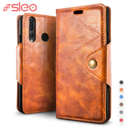 SLEO For Huawei Nova 4 Case Luxury PU Leather Flip Cover For Huawei Nova 4 Wallet Stand Phone Cover Cases 6.4""