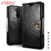 SLEO For Nokia 8.1 X7 7.1 Case PU Leather Flip Case For Nokia X7 8.1 7.1 Wallet Stand Cover Cases For Nokia X7