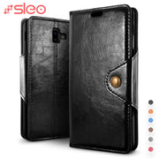 SLEO For Samsung Galaxy J4 Plus J6 Plus Case Wallet PU Leather Flip Case For Samsung Galaxy J4+ J6+ Phone Cover Business Cases