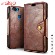 SLEO For Xiaomi Mi 8 Lite Case Wallet PU Leather Flip Case For Xiaomi MI 8 Lite For Mi8 Lite Cover Phone Bags With Card Holder