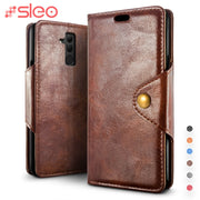 SLEO Retro PU Leather Case For Huawei Mate 20 Lite Case Luxury Wallet Stand Flip Cover Case For Huawei Mate 20 Lite Coque Funda