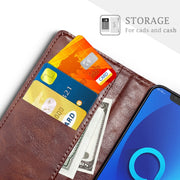 SLEO Retro PU Leather Case For Alcatel 5V Case Wallet Stand Flip Case For Alcatel 5V Business Case With Card Holder 6.2""