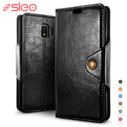 SLEO Retro PU Leather Case For Samsung Galaxy J2 Core Case Wallet Flip Cover For Samsung Galaxy J2 Core Phone Cases Cover 5.0""