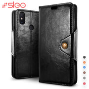SLEO Retro PU Leather Case For Xiaomi Redmi Note 6 Pro Case Flip Cover For Xiaomi Redmi Note 6 Pro Wallet Cases 6.26 Inch