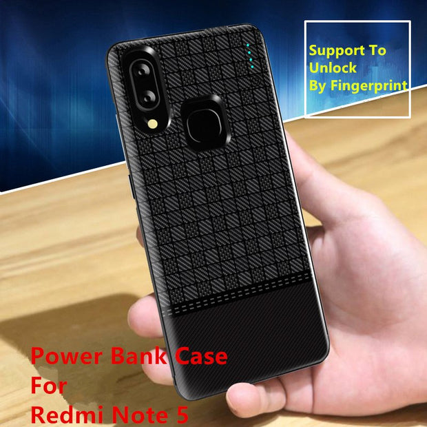huge discount 443f4 69528 SPCASE 5000mAh Portable Battery Charger Cover For Redmi Note 5 Power ...