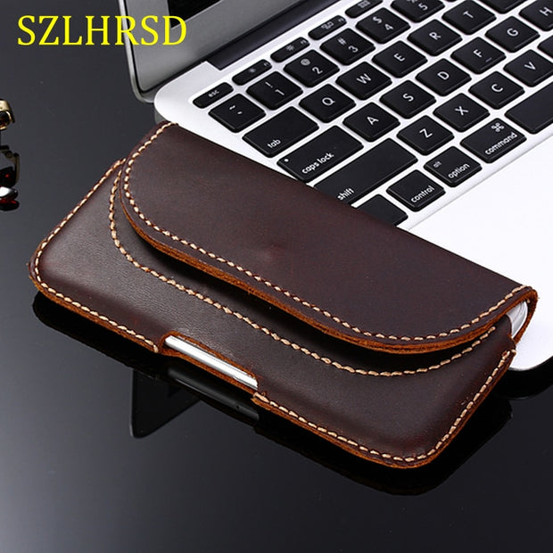 SZLHRSD For Apple IPhone XS Max XR XS Case Genuine Leather Holster Belt Clip Pouch Cover Waist Bag Phone Cover For IPhone XR