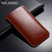 SZLHRSD Hot Selling Ultra-thin Super Slim Sleeve Pouch Cover, Vintage Microfiber Stitch Case For Apple IPhone 9 X 8 7 Plus 6s