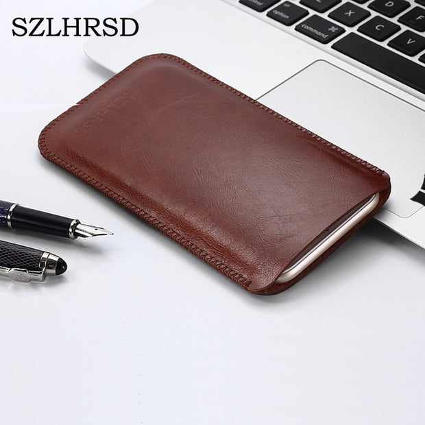 SZLHRSD New Hot Selling Ultra-thin Super Slim Sleeve Pouch Cover, Vintage Microfiber Stitch Case For HomTom S16 Blackview S8
