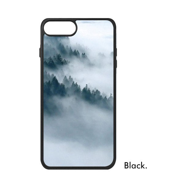 Scenery Night Sky Aurora Dusk Cloud Mountain Fog Forest Natural Silence Phone Case For IPhone 678 Plus XS Max XR Cover