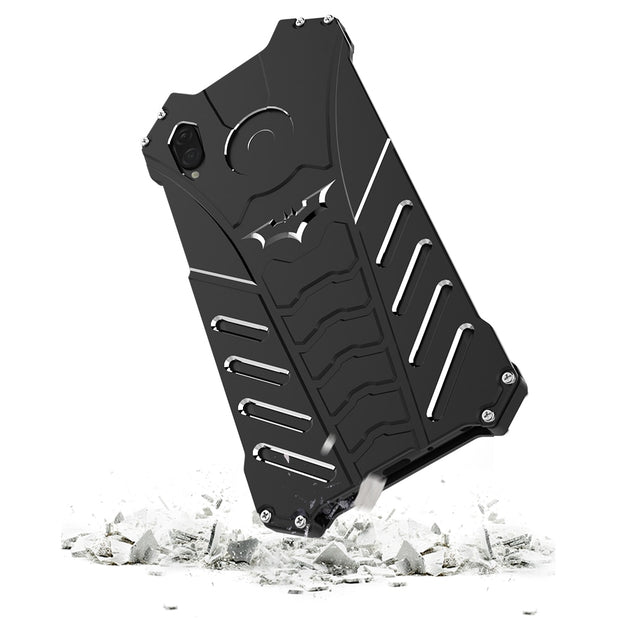 Shockproof Metal Bumper Case For Huawei Honor Play Metal Cover Front And Back Full Anti Drop Kickstand Cool Outdoor Sports