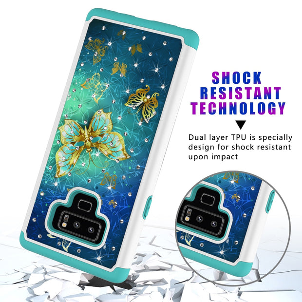 Shockproof Phone Case For Samsung Galaxy Note 9 S8 S8 Plus S9 S9 Plus 2in1 TPU Silicone Cover For J3 J7 2017 J3 2018 Phone Cases