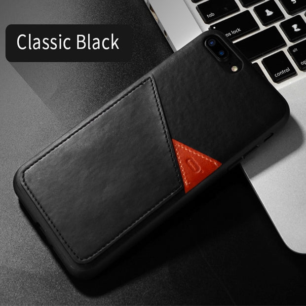 Slim PU Leather Case For IPhone 7 7 Plus Case Luxury Back Cover Card Holder Wallet Mobile Phone Coque For IPhone 7 Plus Case