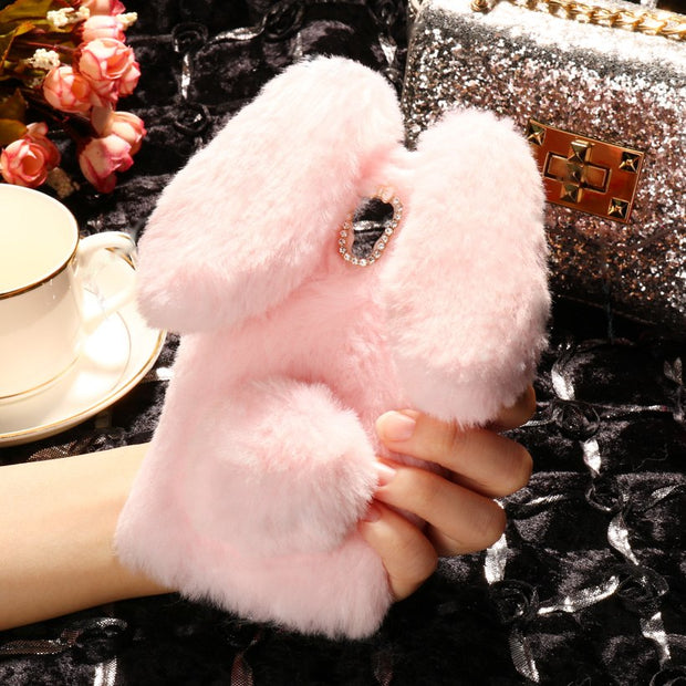 SoapTree Cover Case Soft Rabbit Fluff For Lenovo A536 A358T A 536 5.0 Inch Case Silicone For Lenovo A536 Case Back Covers Shells