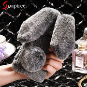 SoapTree Rabbit Fluff Silicon Case For BQ 4072 Case Cute Style For BQ BQ-4072 Strike Mini BQ4072 Case Cover Housing Shell