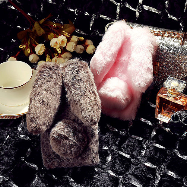 SoapTree Rabbit Fluff Silicon Case For BQ Aquaris U2 Case Cute Style For U2 Lite BQ U2 Lite 5.2 Inch Case Cover Shell Bag