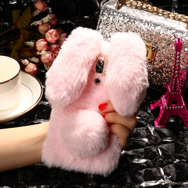 SoapTree Rabbit Fluff Silicon Case For Huawei Mate 10 Pro Case Cute Style For BLA-L09 BLA-L29 BLA-AL00 Case Cover Shell Bag