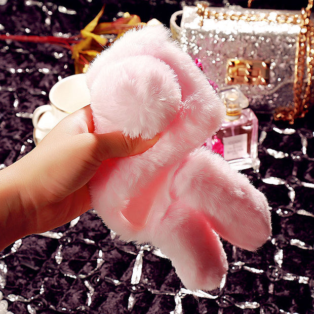 SoapTree Rabbit Fluff Silicon Case For Leagoo T5 Case Cute Style For Leagoo T5 5.5 Inch Case Anti-knock Cover Shell Bags