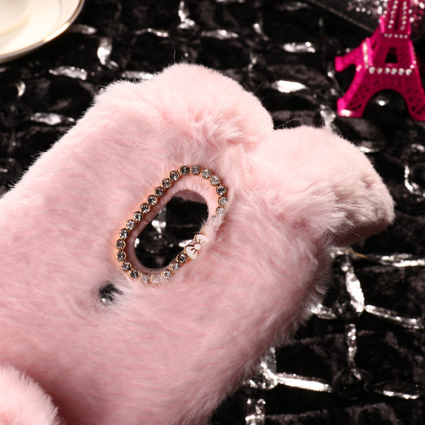SoapTree Rabbit Fluff Silicon Case For Wiko View Prime Case Cute Style For Wiko View Prime 5.7 Inch Case Cover Housing Bag