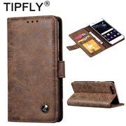 TIPFLY Matte Retro For Huawei P10 Case Huawei P10 Plus Luxury Flip Wallet Retro PU Leather Cover Stand Function Card Holder