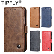 TIPFLY Matte Retro Luxury Flip PU Leather Case For Huawei Mate 10 Mate10 Pro Cover Case Card Slots Holder Stand Wallet Case