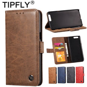 TIPFLY Phone Case For OnePlus 5 5T Matte Flip Wallet Vintage PU Leather Cases For Oneplus 5T Cover Stand Function Card Holder