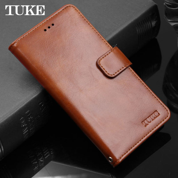 check out e5c91 186c1 TUKE For ZTE Z11 Mini Case Cover Luxury Oil Wax Leather Flip Cases For ZTE  Nubia Z11 Mini NX529J Business Wallet Phone Bags Case