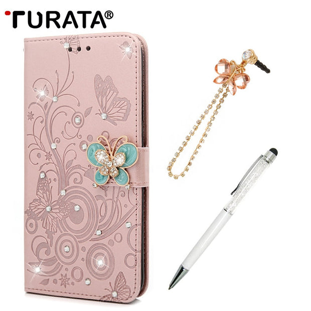TURATA Flip Coque Card Slot Leather Phone Case For IPhone XS Max Tree Butterfly Embossing Wallet Cover For IPhone XS Max