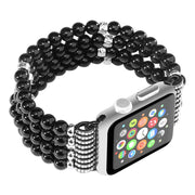 TURATA Handmade Elastic Faux Agate Beaded Watch Band Case For IPhone Apple Watch Series 3 2 1 Bangle Bracelets Jewelry Bands