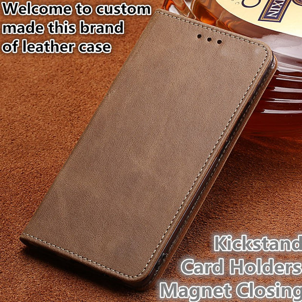 TZ09 Genuine Real Leather Flip Phone Cover For Huawei Honor 8(5.2') Phone Case For Huawei Honor 8 Leather Case