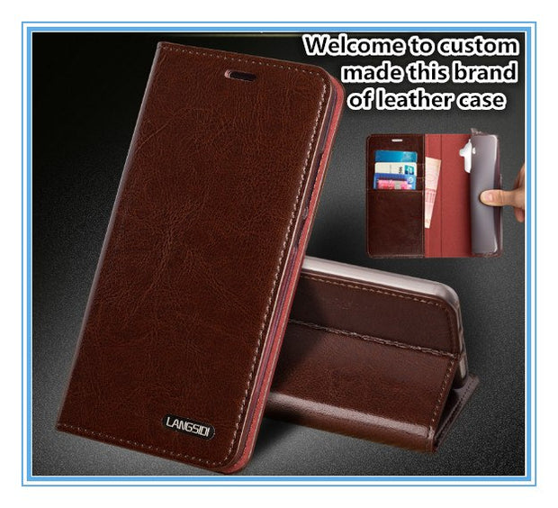 TZ10 Magnet Genuine Leather Flip Cover For Huawei Honor V10 Phone Case For Huawei Honor V10 Flip Case With Card Pocket