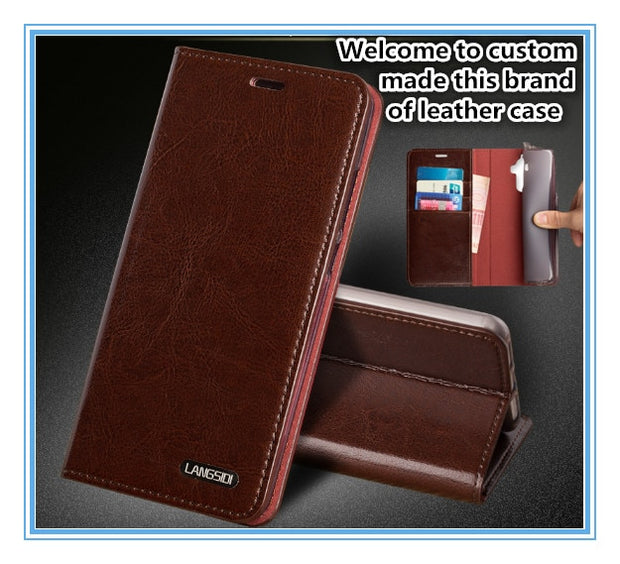 TZ10 Magnet Genuine Leather Flip Cover For Samsung Galaxy A8 Plus 2018 Phone Case For Samsung Galaxy A8 Plus 2018 Flip Case