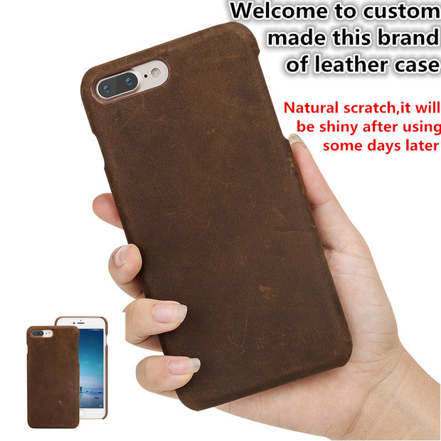 TZ13 Natural Leather Hard Cover Case For Apple Iphone 6S Plus(5.5') Phone Case For Apple Iphone 6 Plus Cover Case Free Shipping