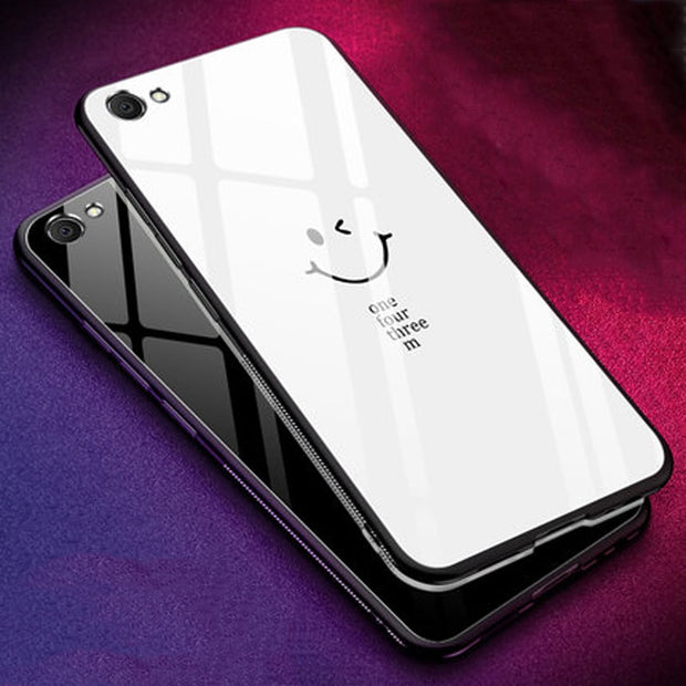 Tempered Glass Case For Vivo Y67 Case Soft Silicone Frame Hard Cover 5.5'' For Vivo Y 67 Case Vivoy67 Cases Phone Shell