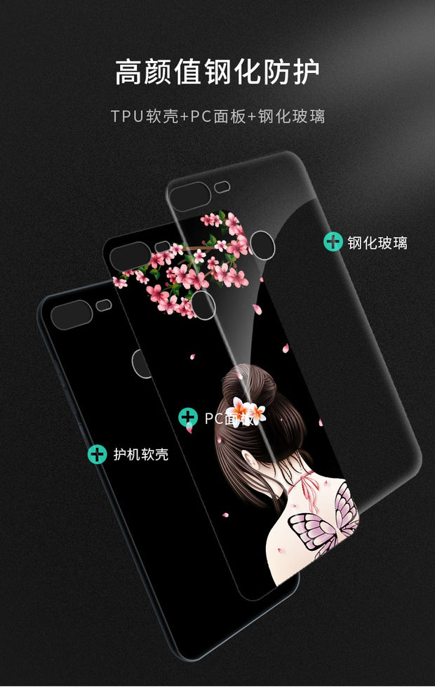 Tempered Glass Case For Huawei Honor 9 Lite Full Cover Case + Tempered Glass Screen Protection Film For Huawei Honor 9 Lite Case