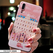 The Grand Budapest Hotel Small Sleep Pink Embossed Relief Case For Huawei P20 PRO P20 Case Cover P10 PLUS P10 CASE Mate 10 Pro