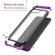 Transparent Toughened Glass Mobile Phone Protective Case Scrape Resistance Dustproof Shockproof Hardness Cover For OPPO