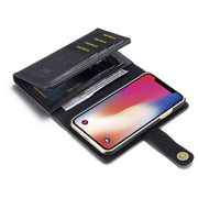 Tri-fold Multi-card Slots Wallet Leather Case Phone Bag Cover For IPhone XS X 5 5S 6 6S 7 8 Plus Magnetic Back Shell Flip Case