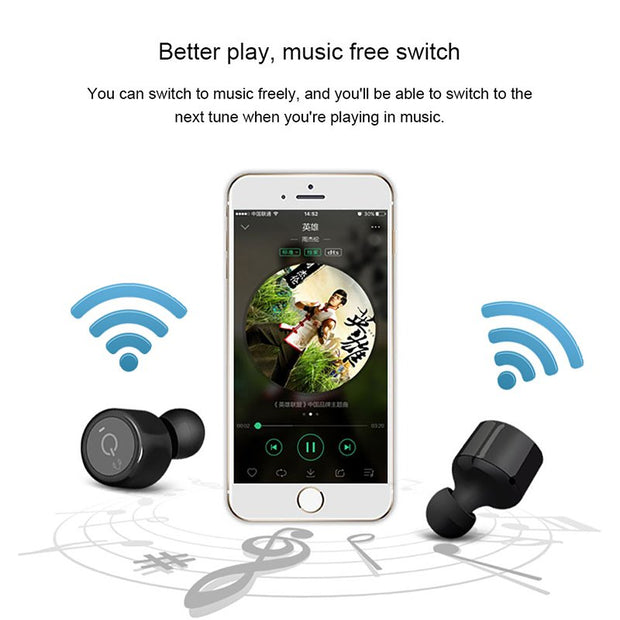 ac32d2e4ad8 Twins Wireless Bluetooth Earphones For Apple IPhone X XR XS Max X S 8 7 6 6S